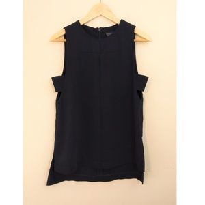 Topshop size 0 navy blue sleeveless top
